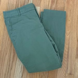 J. Crew Frankie 12 Olive Green Pants